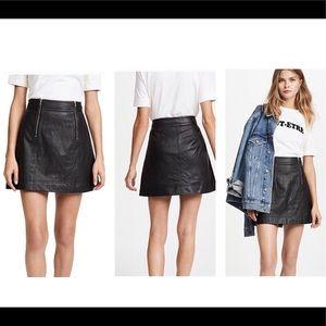 Madewell Leather Skirt